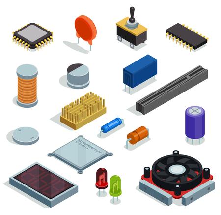 Ensemble isométrique de semi-conducteur d'éléments isolés de fente de résistance de condensateur de transistor de diode de microprocesseur de micropuce