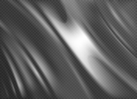 Fondo transparente monocromo de textura de envoltura de plástico de polietileno en la ilustración de vector de estilo realista