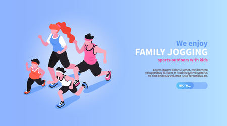 Isometric positive and negative parenting background with editable text description slider button and human characters vector illustration Vektorgrafik