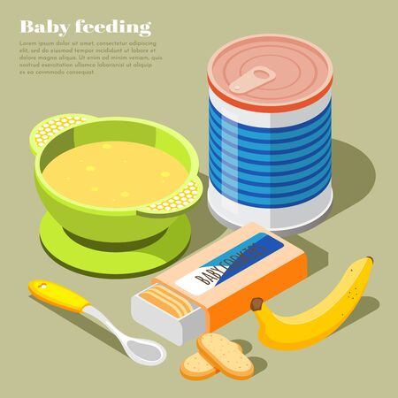 Healthy infant food isometric composition