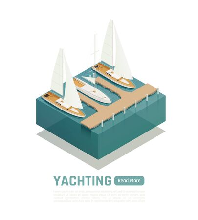 Yachting isometric composition