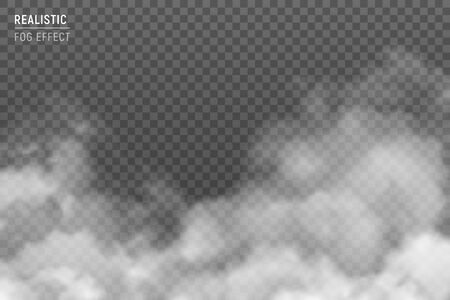 Fuzzy stratus clouds with fog effect realistic image against light gray hazy smog background transparent vector illustration