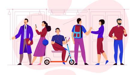 Public transport concept with transportation means symbols flat vector illustration Фото со стока - 152700936