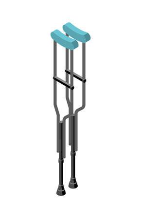 Crutches Vector Illustration Ilustración de vector