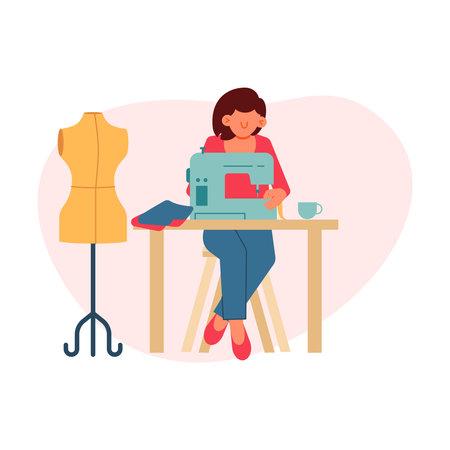 Flat Tailor Illustration