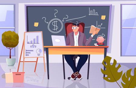 Financial Tutor Flat illustration