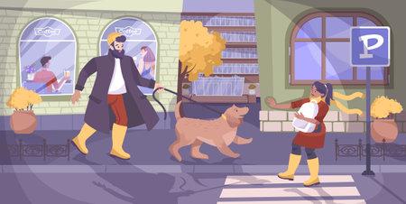 Child Safety And Dog Background