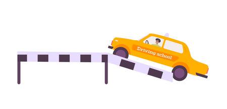 Flat Driving School Icon