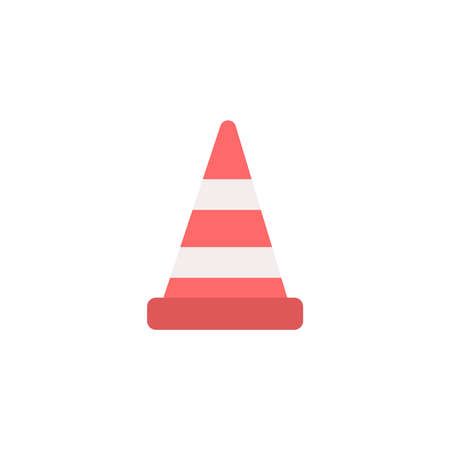 Driving School road obstacle  Icon Ilustracja