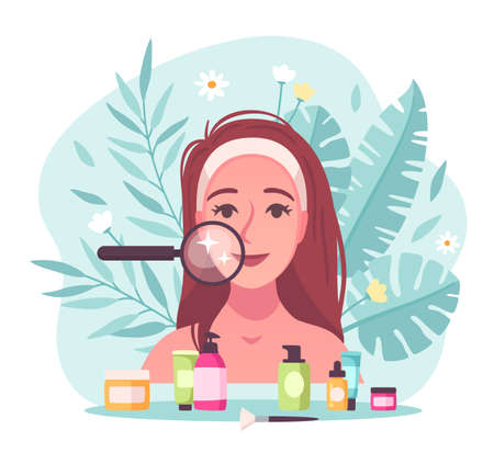 Skincare Flat Concept illustration