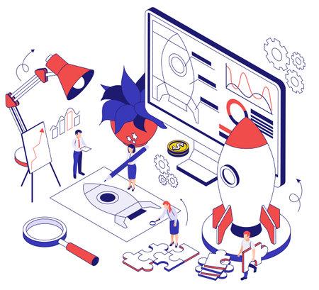 Business Startup Isometric Illustration