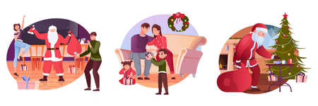 Christmas Flat Compositions illustration