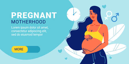 Pregnant Motherhood Horizontal Banner