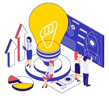Business Startup Conceptual Illustration