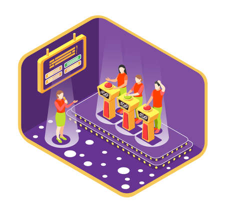 Quiz TV Show Concept illustration Ilustrace