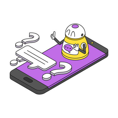 Chatbot Isometric Concept illustration