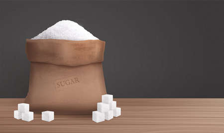 Sugar In Sack Illustration