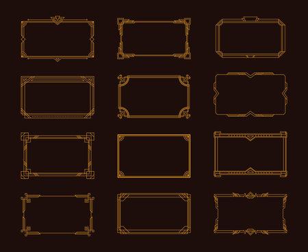 Art Deco Frame Set
