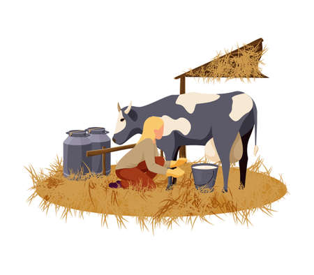Organic Farm Flat Illustration