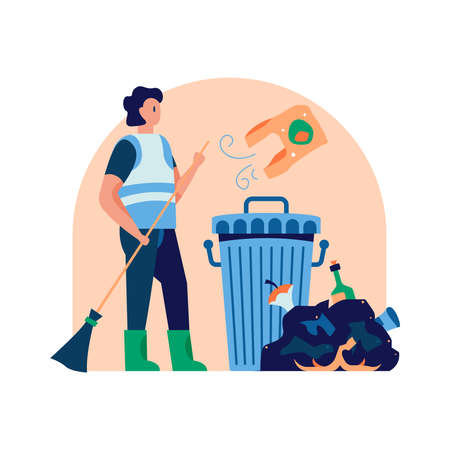 Garbage Recycling Concept