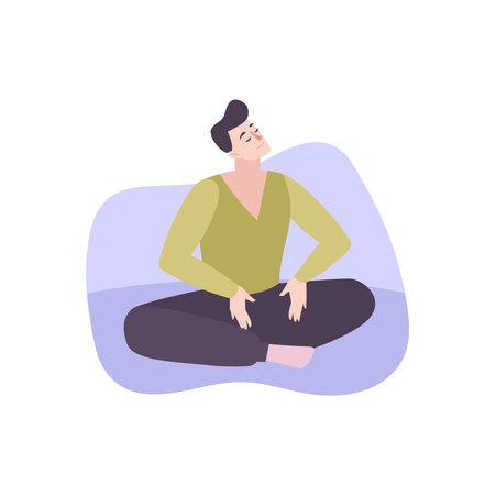 Meditating Man Illustration