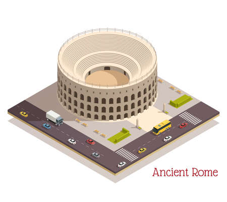 Ancient Rome Isometric Composition