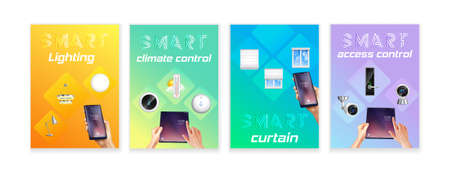 Smart Home Realistic Banners