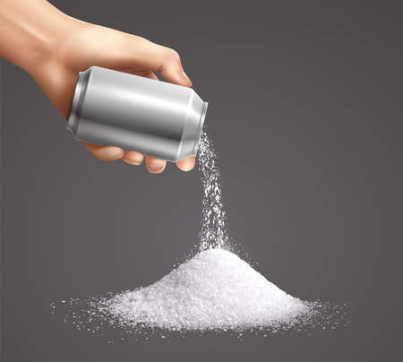 Sugar And Soda Illustration Illusztráció
