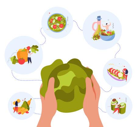 Vegan Food World Background