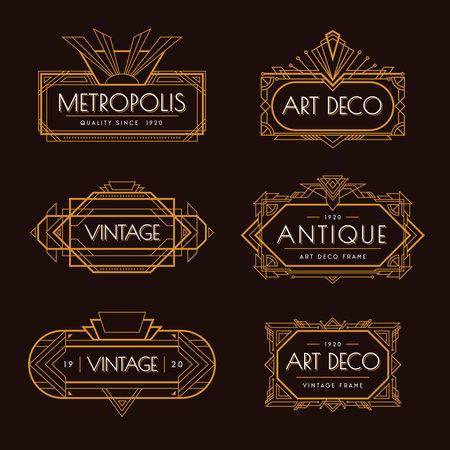 Art Deco Labels Set