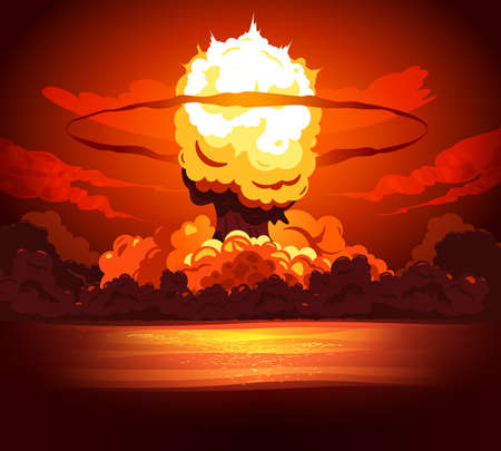 Bomb Explosion Fire Background