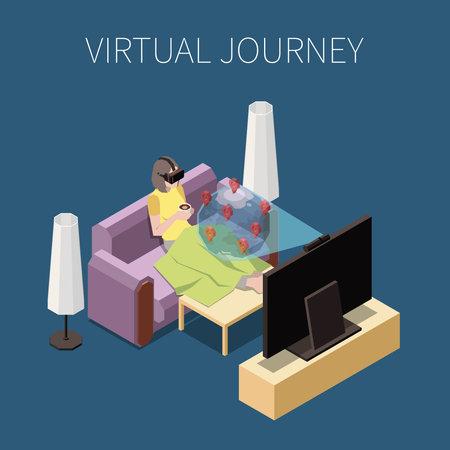 Virtual Travel Concept