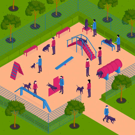Dog Training Playground Composition