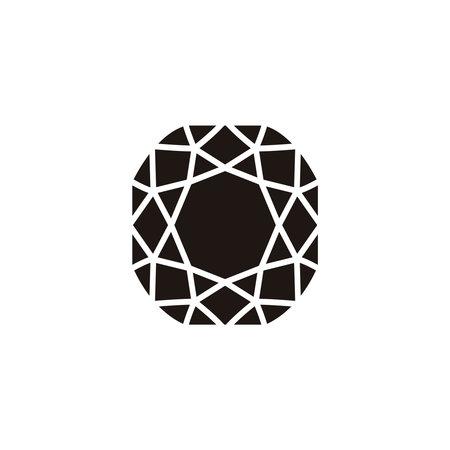 Flat Diamond Icon Ilustración de vector