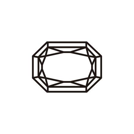 Flat Gem Stone Icon