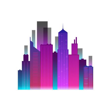 Neon City Icon Ilustração