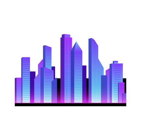 Realistic Neon City Icon Ilustração
