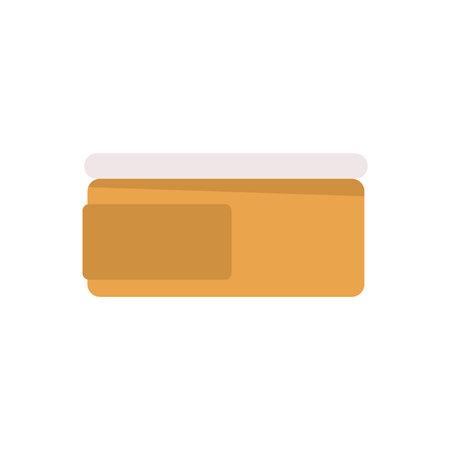 Cream Tub Icon Vector Illustratie
