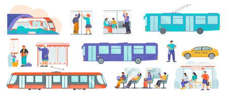 Public Transport Flat Set