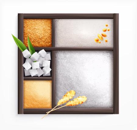 Sugar In Box Illustration