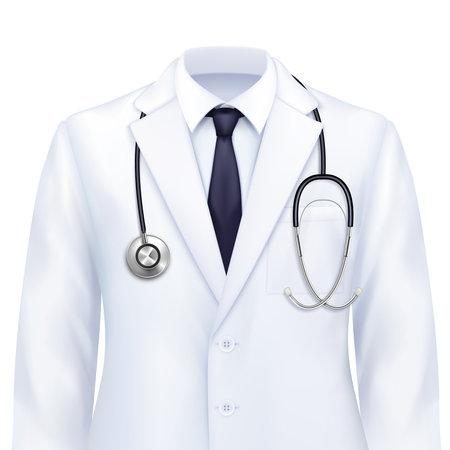 Doctors Suit Realistic Composition