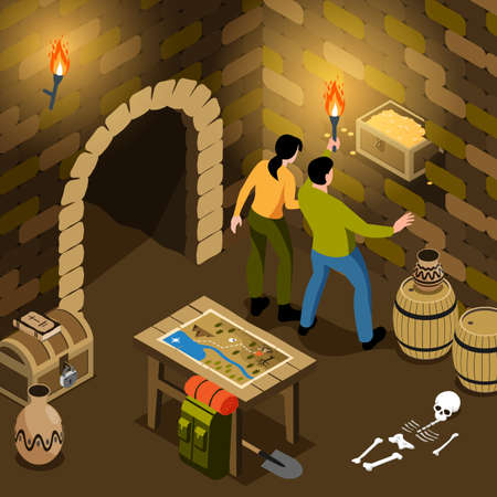 Treasure Hunt Tomb Composition