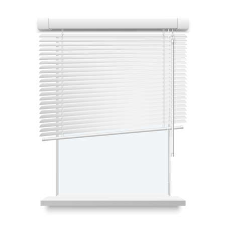 Blinds Realistic Illustration
