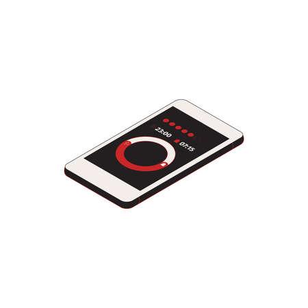 Smartphone Alarm Clock Composition Illusztráció