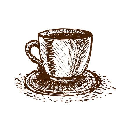 Coffee Cup Illustration Vector Illustratie