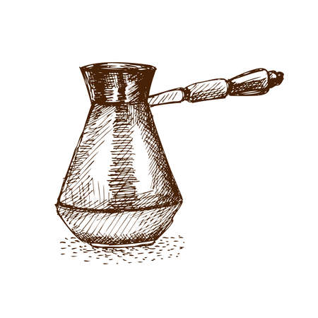 Turkish Coffee Pot Illustration