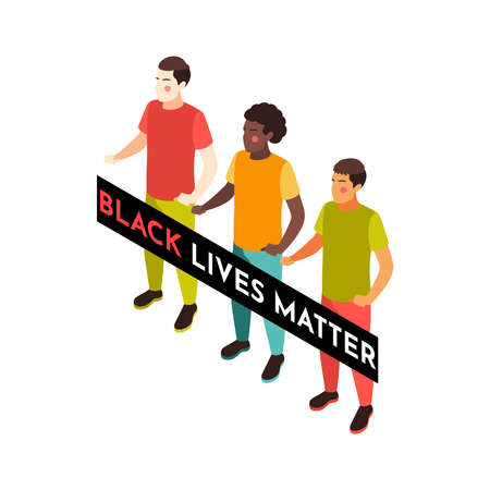 BLM Activists Placard Composition