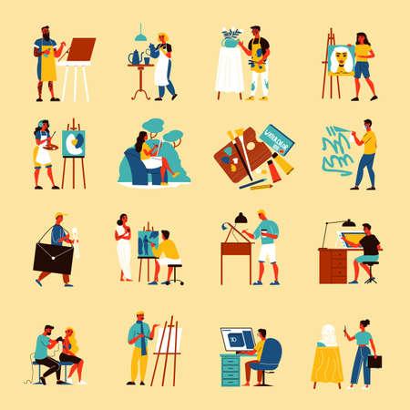 Creative Artist Icon Set