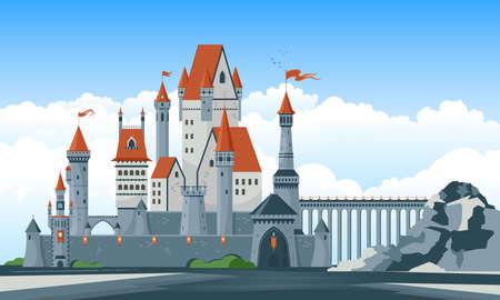 Castle Flat Illustration