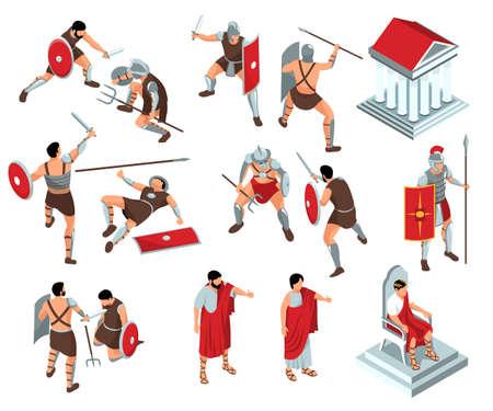 Rome Gladiators Icon Set
